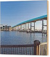 Fort Myers Bridge Wood Print