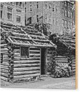 fort nashborough stockade recreation Nashville Tennessee USA Wood Print