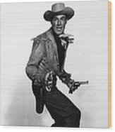 Fort Worth, Randolph Scott, 1951 Wood Print