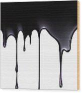 Fossil Fuel, Conceptual Image Wood Print