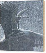 Fountain Of Faith Birdman Wood Print