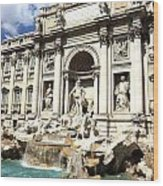 Fountain Of Trevi Wood Print