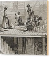 Four 1869 Illustrations Show Processing Wood Print