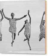 Four Dancers Leaping Wood Print
