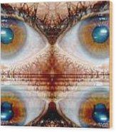 Four Eyes Wood Print