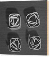 Four Wood Print