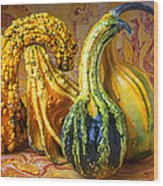Four Gourds Wood Print