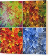 Four Seasons In Abstract Wood Print