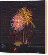 Fourth Of July Wood Print by David Hahn