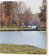 Fowler Lake 3 Wood Print by Franklin Conour