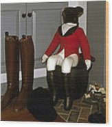 Fox Hunt Decorations Wood Print