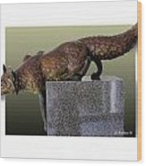 Fox On A Pedestal Wood Print