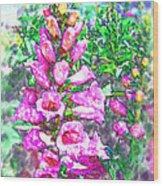 Foxglove Floral Wood Print