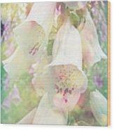 Foxgloves Wood Print
