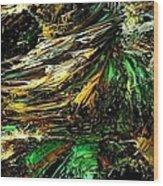 Fractal - Weed Wood Print