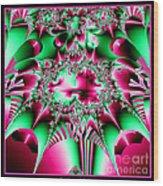 Fractal 12 Candycane Jester Wood Print