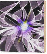 Fractal Flower . Dahlia Wood Print