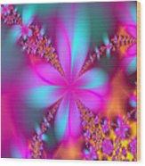 Fractal Flowers Wood Print