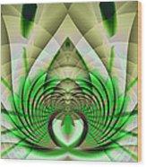 Fractal Lotus Wood Print