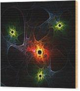Fractal Network Wood Print