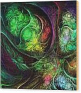 Fractal Spirals Wood Print