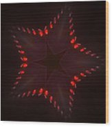 Fractal Star Wood Print