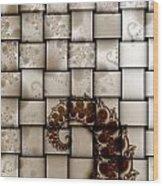 Fractal Work Wood Print