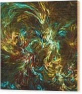Fractal002 Wood Print
