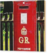 Fractalius Pillar Box Wood Print