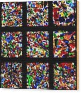 Fractured Squares Wood Print by Meandering Photography
