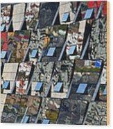 Fragmented Guggenheim Museum Bilbao Wood Print