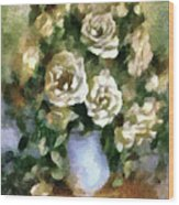Fragrant Roses Wood Print