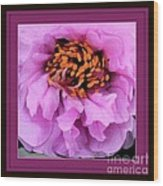 Framed In Purple - Abstract Floral Wood Print