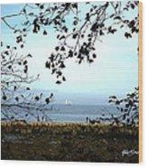 Framed On Penobscot Bay Wood Print