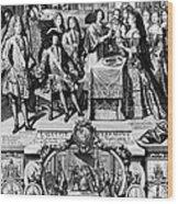 France: Baptism, 1704 Wood Print