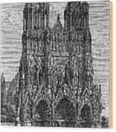 France: Reims Cathedral Wood Print
