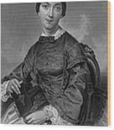 Frances Sargent Osgood (1811-1850). American Poet. Engraving From A Painting By Alonzo Chappel, C1873 Wood Print