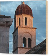 Franciscan Monastery Tower At Sunset Wood Print