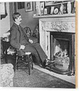 Frank Harris (1854-1931). American Writer Born In Galway, Ireland Wood Print