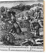 Franklin: Cartoon, 1764 Wood Print