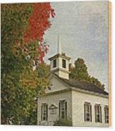 Franklin Church Wood Print