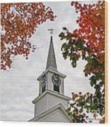 Franklin Steeple Wood Print