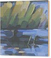 Fran's Cove Wood Print