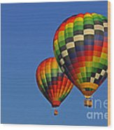 Fraternal Twin Balloons Wood Print