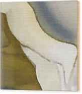 Frau Im Weissen Kleid Wood Print