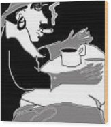 Frau Und Hund Wood Print