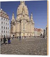 Frauenkirche And Surroundings Wood Print