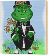 Freddie Frog Wood Print