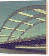 Freddie Sue Bridge Wood Print by Kristen Cavanaugh