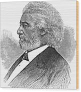Frederick Douglass (c1817-1895). American Abolitionist. Wood Engraving, American, 1877 Wood Print